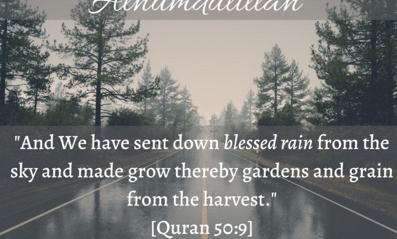 Photo of Alhumdulillah for Rain